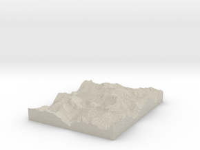 Model of Phantom Peak in Natural Sandstone