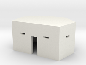 Type 24 Pillbox 2mm scale in White Natural Versatile Plastic