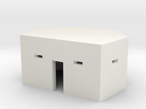 Type 24 Pillbox 2mm scale in White Natural Versatile Plastic