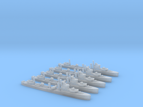 HMS Achates (A Class) 1/1800 x5 in Smooth Fine Detail Plastic