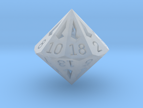 18 Sided Die - Small in Smooth Fine Detail Plastic