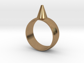 223-Designs Bullet Button Ring Size 7 in Natural Brass