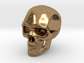 Realistic Human Skull (40mm H) in Natural Brass