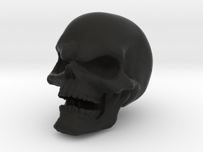 1 Inch Evil Skull in Black Strong & Flexible