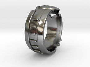 Visor Ring 8 in Polished Silver
