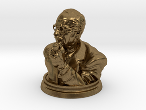Carl Jung Bust 50mm in Natural Bronze