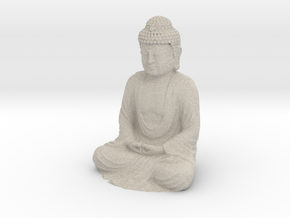 Buddha Sculpture - 50 mm in Natural Sandstone