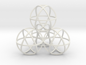 Sphere Tetrahedron in White Natural Versatile Plastic