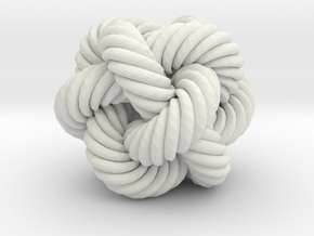 Rope Bead (M) in White Natural Versatile Plastic