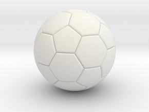 Soccer in White Natural Versatile Plastic