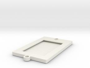 Credit Card / Hotel Key Holder in White Natural Versatile Plastic