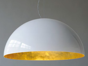 1:12 Hanging Lampshade  in White Strong & Flexible Polished