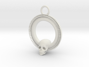 SkullPendant in White Natural Versatile Plastic