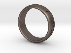 Trust in the Lord MkII - Ring in Polished Bronzed Silver Steel