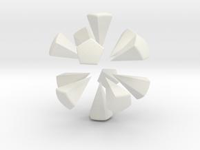 Soccer Ball (Black Pentagon Inserts) in White Strong & Flexible