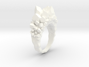 Crystal Ring size 6 in White Processed Versatile Plastic
