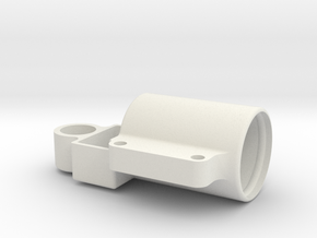 Capacitor Moulding in White Natural Versatile Plastic
