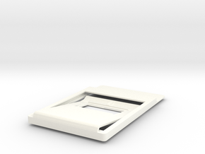 Slim minimalistic Wallet, money clip, bottleOpener in White Strong & Flexible Polished
