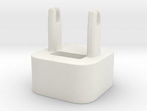 The Wrap - cable winder for iPhone charger in White Strong & Flexible