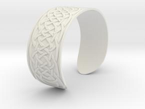 Bracelet Celtique in White Natural Versatile Plastic