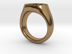 Ornament Ring in Natural Brass