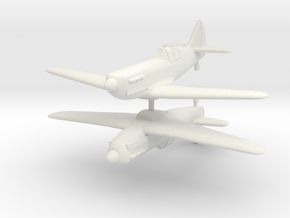 1/200 Dewoitine D.520 (x2) in White Natural Versatile Plastic