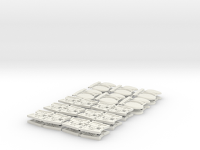 TA 4S avio parts 002 A1 12pcs in White Strong & Flexible