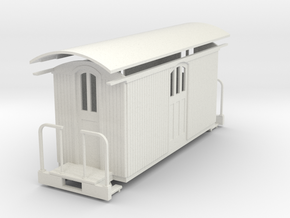 On20/On18  baggage car  in White Natural Versatile Plastic