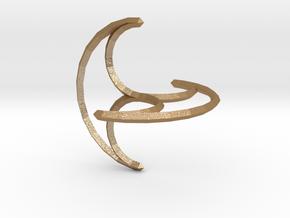 Freely Rolling Konoid 100 mm in Matte Gold Steel