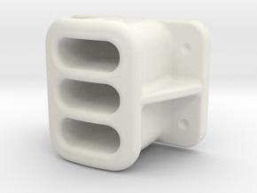 "2.00"" SCALE, BALDWIN, PILOT, COUPLER POCKET in White Natural Versatile Plastic"