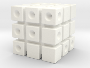 3 Cubed Die in White Processed Versatile Plastic
