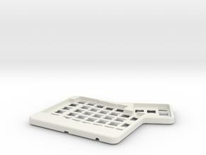 ErgoDox Top Right Case in White Natural Versatile Plastic