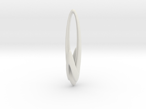 Arching Earring in White Strong & Flexible