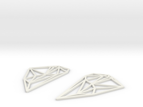 South America Earrings in White Natural Versatile Plastic