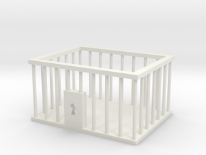 Business Card Jail Cell in White Natural Versatile Plastic