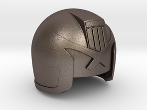 Judge Helmet in Polished Bronzed Silver Steel