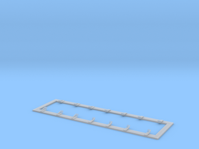 26 Foot Tank Car Walkway in Smooth Fine Detail Plastic