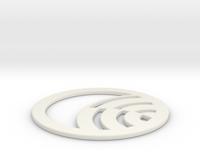 Yarnbury Castle Crop Circle Geometry in White Natural Versatile Plastic