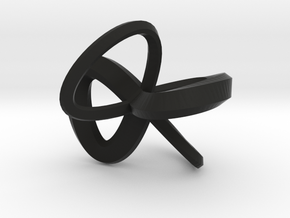 1 Inch Solid Mobius in Black Strong & Flexible