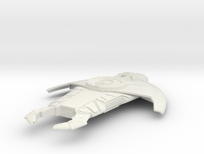 CardassianScout+75mm in White Natural Versatile Plastic