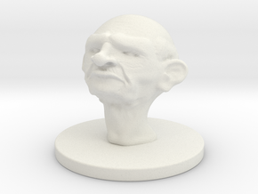 1 Inch Elderly Man in White Natural Versatile Plastic