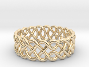 Celtic Ring - 16mm ⌀ in 14K Yellow Gold