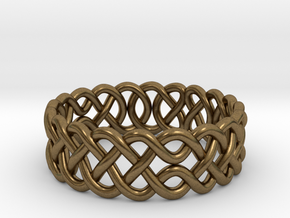 Celtic Ring - 16mm ⌀ in Natural Bronze