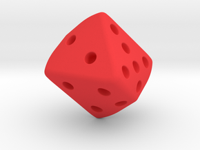 Warped Cube in Red Strong & Flexible Polished