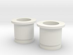 Circular Plug Hollow - 00 Gauge in White Natural Versatile Plastic