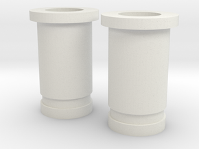 Circular Plug Hollow - 4 Gauge in White Natural Versatile Plastic