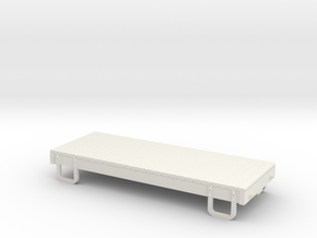 55n9 13ft 4 wheeled Flat car base in White Strong & Flexible