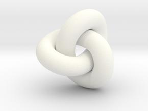 trefoil4 40mm in White Processed Versatile Plastic