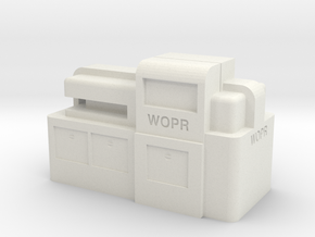 WOPR Computer, Large in White Natural Versatile Plastic