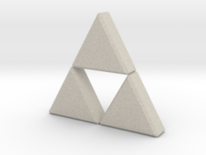 Triforce in Natural Sandstone